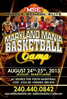 MSE Maryland Mania Basketball Camp