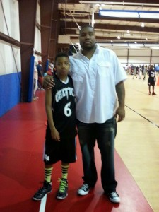Ramel Lloyd Jr. with his father Mr Lloys Sr.